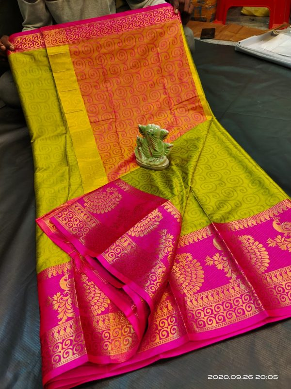 Mysore Silk with Kanjivaram Jari Border